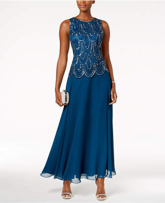J Kara Embellished Scalloped A-Line Gown $239 thestylecure.com