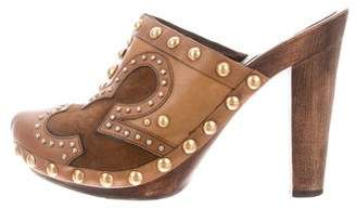 Miu Miu Embellished Clogs Heels