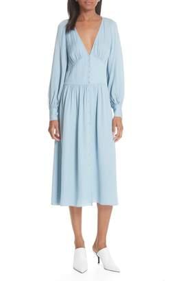 Joie Kyria Silk Midi Dress