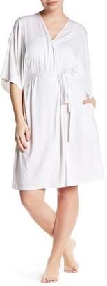 Barefoot Dreams 3\u002F4 Dolman Sleeve Short Robe (Plus Size)