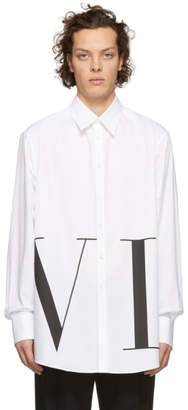 Valentino White Oversized VLTN Shirt