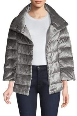 Herno Terry Velvet Quilted Coat