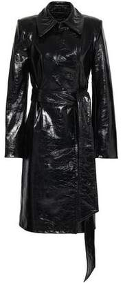 Helmut Lang Patent-Leather Trench Coat
