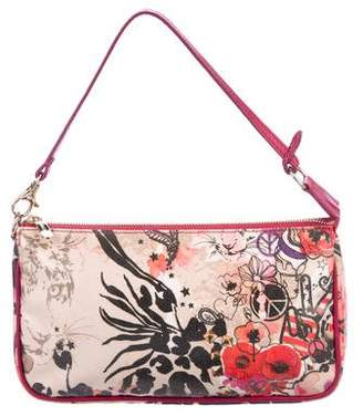 Jimmy Choo Printed Coated Canvas Zip Handle Bag