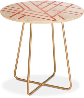 Deny Designs Elisabeth Fredriksson Art Deco Rose Round Side Table