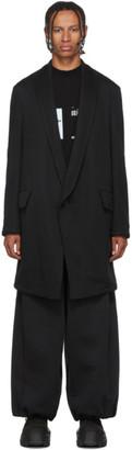 Julius Black Double Knit Coat