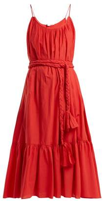 Rhode Resort - Lea Cotton Dress - Womens - Red