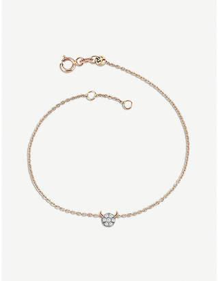 Rosegold The Alkemistry Kismet by Milka 14ct rose-gold and diamond Taurus bracelet