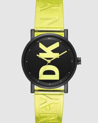 DKNY Soho Green Analogue Watch