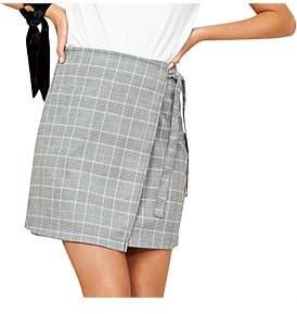 MinkPink Power Trip Wrap Mini Skirt