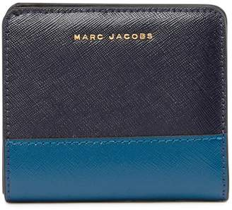 Marc Jacobs Saffiano Leather Colorblocked Bifold Wallet