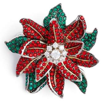 Nadri Jolly Poinsettia Pin