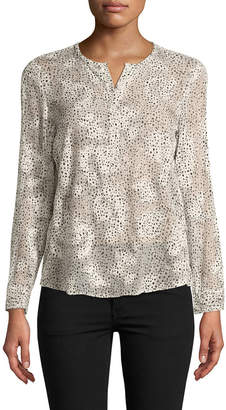 Rebecca Taylor Long Sleeve Snow Dot Top