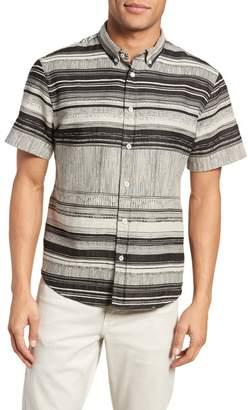 Billy Reid Murphy Stripe Short Sleeve Sport Shirt