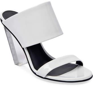 Balmain Lory Shiny Slide Sandals