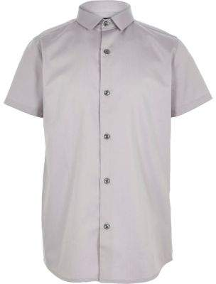 River Island Boys grey short sleeve shirt