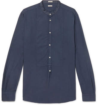 Massimo Alba Grandad-Collar Modal And Cotton-Blend Twill Half-Placket Shirt