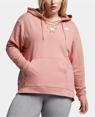 fb31aafde14b Nike Plus Size Sportswear Lace-Up Hoodie