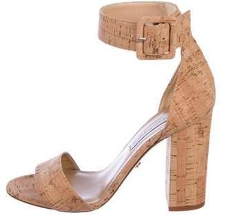 Diane von Furstenberg Cork Ankle Strap Sandals