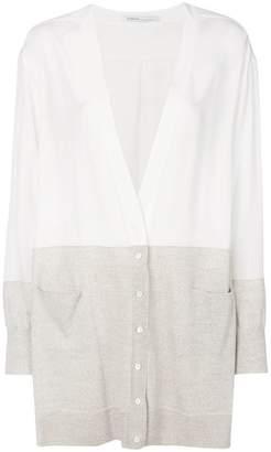 Agnona two-tone longline cardigan