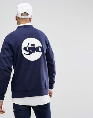 Gio-Goi Sweatshirt With Back Logo Print In Navy
