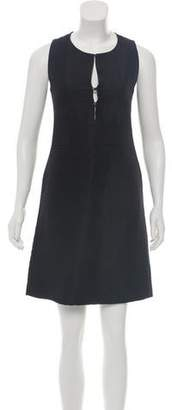 Burberry Wool-Blend A-Line Dress