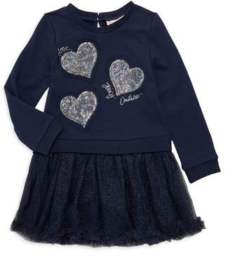 Juicy Couture Little Girl's Embellished Cotton-Blend Sweater Dress