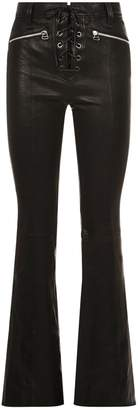Rag & Bone Bella Lace-Up Leather Trousers