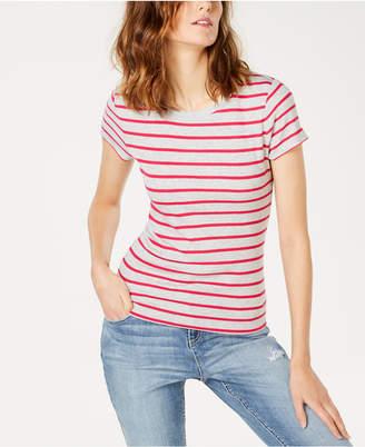 INC International Concepts I.n.c. Striped Crewneck T-Shirt