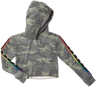 Flowers by Zoe Girl's Camo Hoodie w/ Star Taping, Size S-XL
