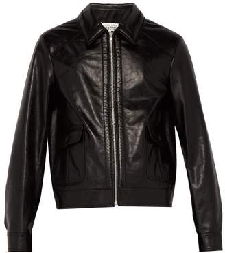 Maison Margiela Sport Leather Jacket - Mens - Black