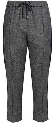 Brunello Cucinelli Cropped Houndstooth Wool Tapered Pants