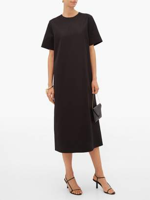The Row Rory Cotton Twill Midi Dress - Womens - Black