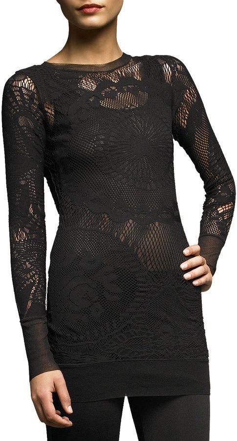 Jean Paul Gaultier Long-Sleeve Lace Tunic