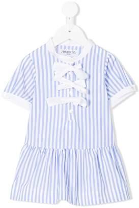 Simonetta striped ruffled dress