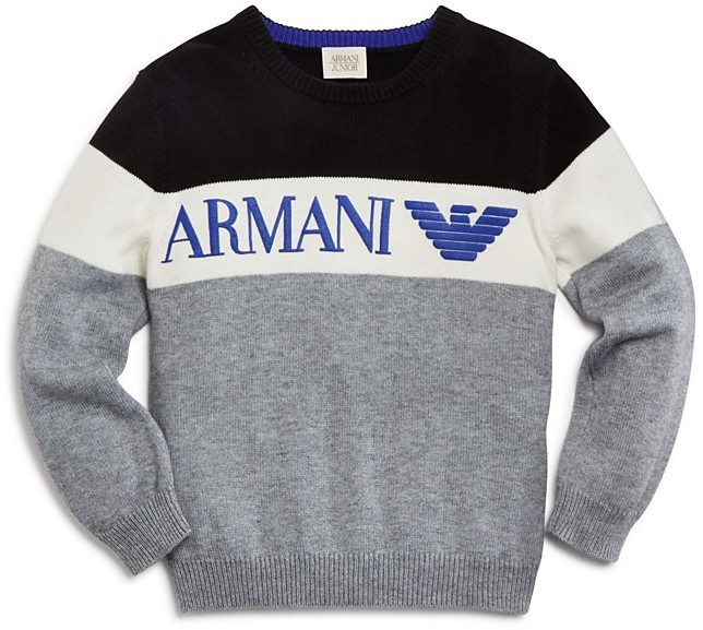 Armani JuniorArmani Boys' Tricolor Logo Sweater - Sizes 4-16