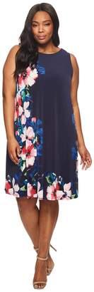 Lauren Ralph Lauren Plus Size Suzan Windell Floral Matte Jersey Dress Women's Dress