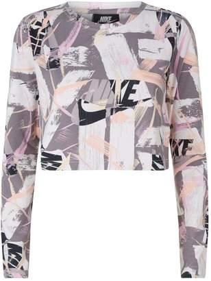 Nike Brush Stroke Print Crop Top