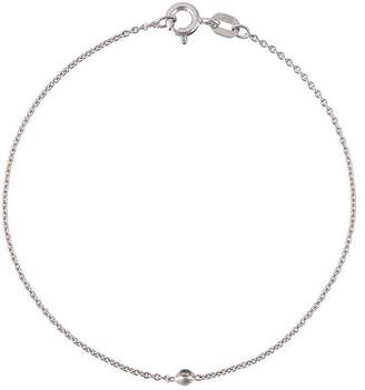 Wouters & Hendrix Gold 18kt white gold single diamond bracelet