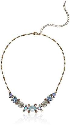 Sorrelli Women's Washed Waterfront Clustered Navatte Half Line Necklace