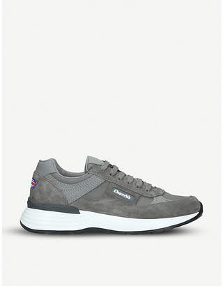 Church's Ch873 suede and textile trainers