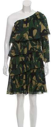 Sonia Rykiel Printed One-Shoulder Dress w/ Tags