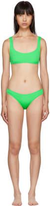 Solid and Striped Green The Elle Bikini