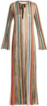 Missoni Striped metallic kaftan dress