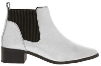 NEW Piper Racy Silver Leather Boot