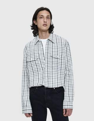 Our Legacy CPO Button Up Shirt in White Crepe Check