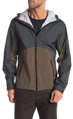 Hawke & Co Two Tone Water Resistant Rain Jacket