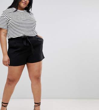 New Look Plus Curve Tie Shorts