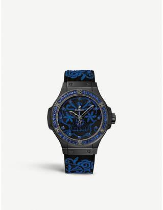 Hublot 343.CL.6590.NR.1201 Big Bang Broderie sapphire, silk and ceramic watch