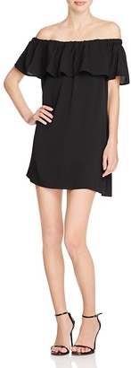 FRENCH CONNECTION Polly Plains Off-the-Shoulder Dress $98 thestylecure.com